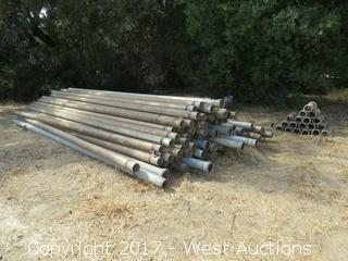 "(70) 5"" x 20' Aluminum and Galvanized Irrigation  Pipe with (50) Connectors"