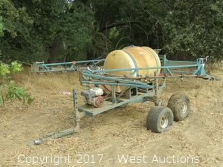 Ag Spray Rig with 110 Gal. Tank on Trailer