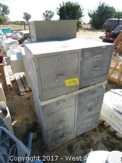 Pallet; (3) Filing Cabinets