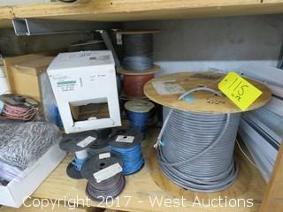 Bulk Lot: (13) Spools of Various Wire and Cable