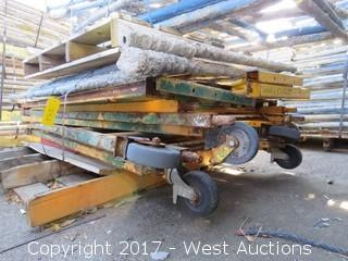 Pallet of Disassembled Portable Scaffolding