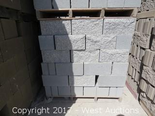 1 Pallet Masonry Block - 8x8x16 STD Split Face 1 Side - Grey Lightweight