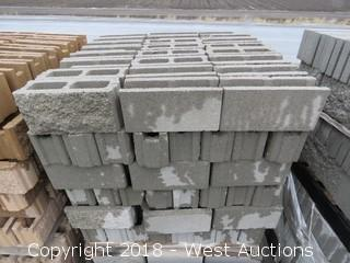 6x8x16 Tounge/Groove Fence Block - Split 1 Side - Lightweight Grey