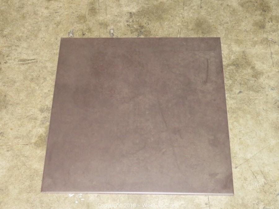 West Auctions Auction Tile Outlet Item Pallet 18 X 18 Ceramic