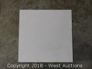 """Pallet: White Porcelain 12"""" x 12"""" Tile"""
