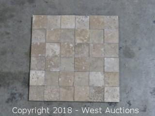 "Pallet: Mocha 12"" x 12"" Mosaic Travertine Tile"