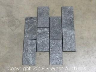 """Crate: Black Brick 16"""" x 20"""" Mosaic Slate"""