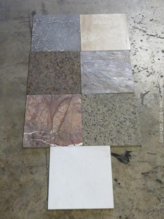 "Pallet: 12"" x 12"" Mixed Marble and Slate Tile"