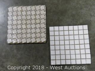 "Crate: 12"" x 12"" Travertine Mosaic Tile (Two Styles)"