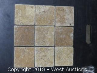 "Crate: 4"" x 4"" Travertine Tile"