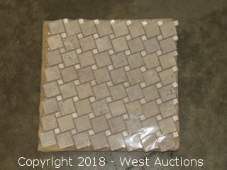 """Crate: Giallo Siena 12"""" x 12"""" Mosaic Tile"""