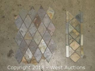 "Crate: Mosaic Stone Tiles 12"" x 4"" & 14"" x 10"""