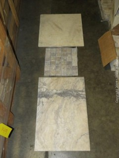 Crate: Entire Crate of Marble and Travertine Tiles