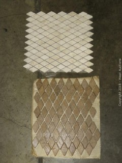 "Crate: 12"" X 12"" Mosaic Marble Tiles (Two Colors)"