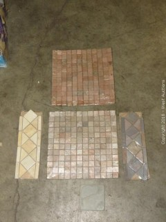 "Pallet: Entire Pallet of 12"" Stone Mosaic Tiles"