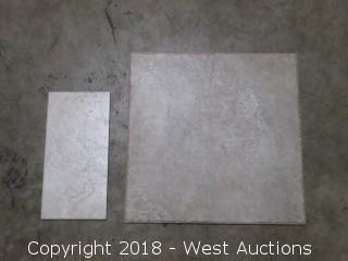 "Pallet: Elysium Sand 18"" X 18"", and 13"" x 7"" Tiles"