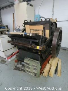 "National Machine Co. 20"" x 30"" Die Cutter"