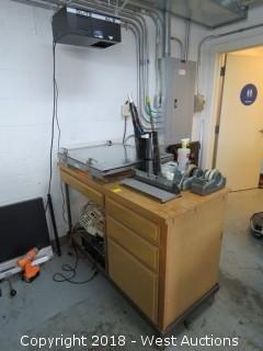 Nuarc VFC27 Vacuum Unit Work Station with Light Integrator, Printing Lamp, More