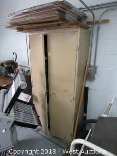 """Metal 2-Door Cabinet 78"""" X 36"""" X 18"""""""