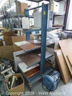 "Metal Shelf/Rack on Casters 57"" X 30"" X 20"""