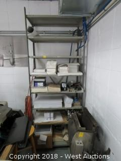 Metal Shelving System 7' with Assorted Paper Contents