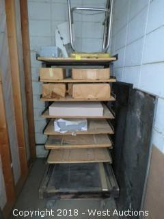Utility Shelf Cart with Stool and Paper