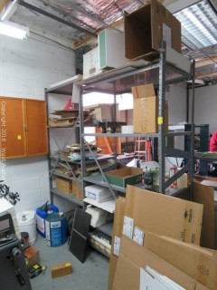 Warehouse Shelving Unit with Paper Supplies