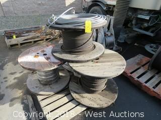 Pallet of (3) Various Cable Spools