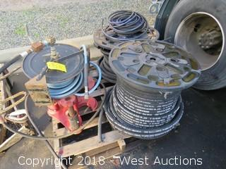 Pallet of Spools and Wain Roy Coupler