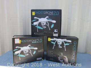 (3) White Ghostdrone 2.0 Aerial