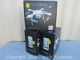 (3) White Ghostdrones 2.0