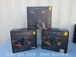 (3) Black Ghostdrones 2.0 Aerial