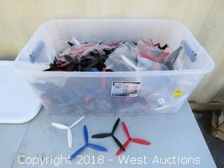 Bin Of Spare Drone Propeller Blades