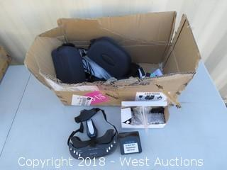 Box of Drone Components - G-Boxes, VR Goggles, Antennas, Hardware