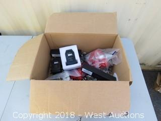 Box of Drone Parts - Batteries, Propellers, Control Boards