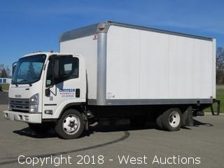 2015 Isuzu V8 Gas NPR HD 16' Box Truck with Lift Gate