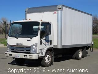 2014 Isuzu NPR HD V8 Gas 16' Box Truck with Lift Gate