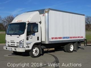2013 Isuzu NPR V8 Gas 16' Box Truck with Lift Gate