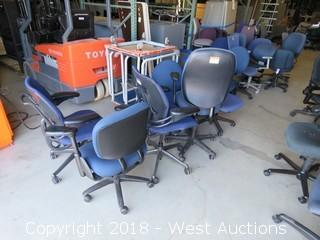 (16) Blue Office Chairs