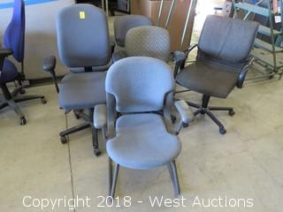 (6) Grey Office Chairs