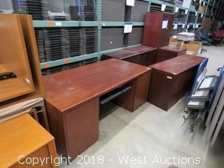(5) Units of Wood Office Furniture