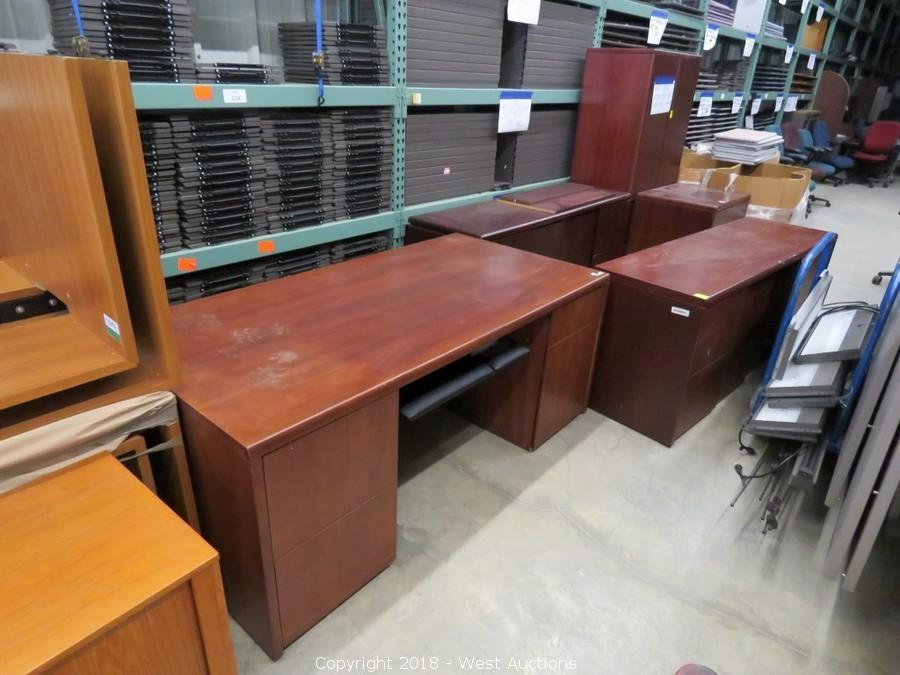 Auction of Northfield Jointer, Pallet Racking, and Office Furniture