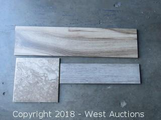 """Pallet; (15) Boxes of 98 X 59.5 cm Tile and 12-3/4"""" X 12-3/4"""" Tile"""