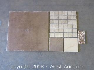 Pallet; (30+) Boxes of Assorted Tile and Mosaic