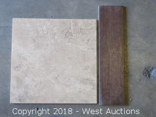 """Pallet; (15) Boxes of Assorted 18"""" X 18"""" Tile"""