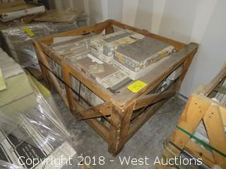 Crate; (18) Boxes of Assorted Tiles