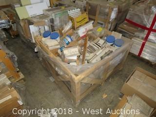 Crate; Full 3.5'x3.5' Crate of Assorted Tiles and Tile Products