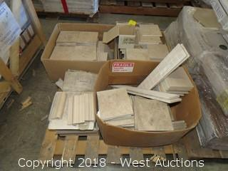 Pallet; (5) Boxes of Assorted Tile