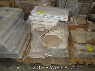 Pallet; (9) Boxes of Assorted Tile