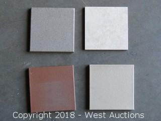 """Crate; Full 3'x3' Crate of 6""""x6"""" Assorted Color Tiles"""
